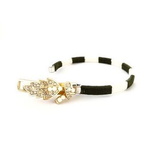 LEE ANGEL✨for Neiman Marcus✨ wrapped clasp bangle